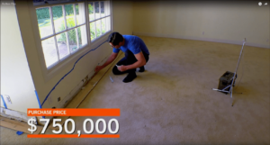 Tarek El Moussa inspects home for asbestos